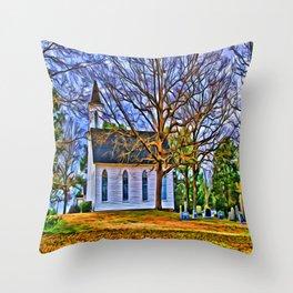 Church in the Wildwood Throw Pillow