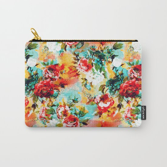 Floral Camouflage Carry-All Pouch