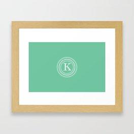 Circle of K Framed Art Print