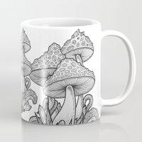 mushrooms Mugs featuring Mushrooms by Sushibird