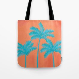 Turquoise Palms Tote Bag