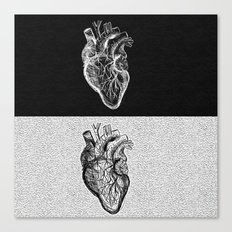 Two Sided Heart Canvas Print
