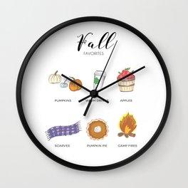 Fall favorites Wall Clock