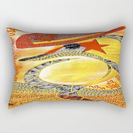 Dolphin StarBurst tetkaART Rectangular Pillow
