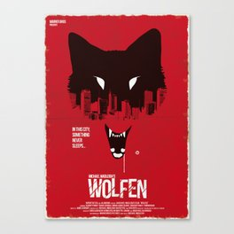 Wolfen (Red Collection) Canvas Print
