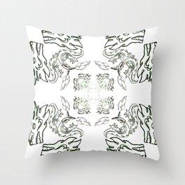 die liebe zu den Drachen - der Drachenschutz the love of the dragon the dragon protection (A7 B0037) Throw Pillow