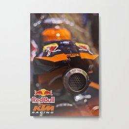 KTM Racing motorbike Metal Print