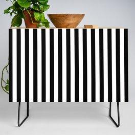 Stripe Black And White Vertical Line Bold Minimalism Stripes Lines Credenza