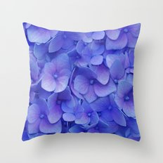 Hydrangea blue Throw Pillow
