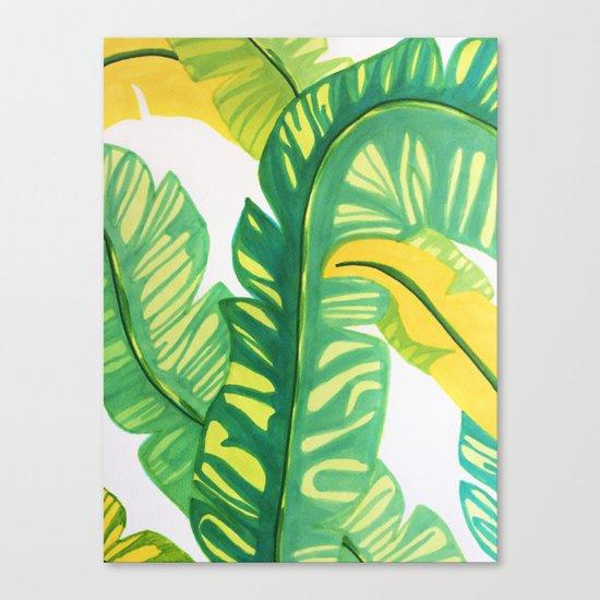 Banana tropical Canvas Print