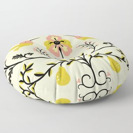Hummingbirds and Pears Floor Pillow