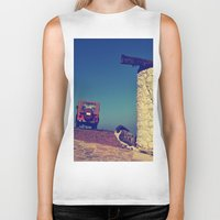 jeep Biker Tanks featuring windmill and the jeep in yalıkavak by gzm_guvenc