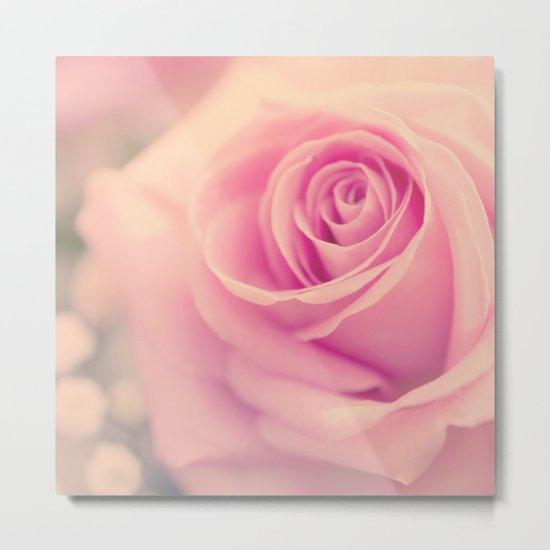 Vintage roses flowers floral - Pink rose flower bunch #Society6 Metal Print
