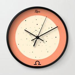 Libra - Pink Wall Clock