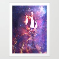 han solo Art Prints featuring Han Solo by MaNia Creations