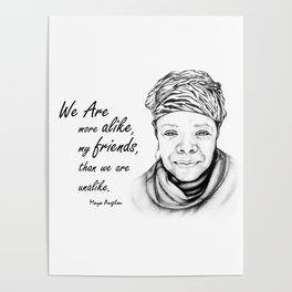 Maya Angelou Quote from Human Family Poster