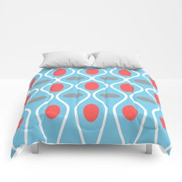 Mid Century Modern Waves and Spheres Comforters