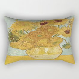 Vincent van Gogh's Sunflowers Rectangular Pillow