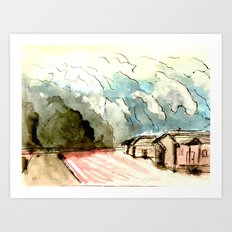The Dust Bowl Blues Art Print