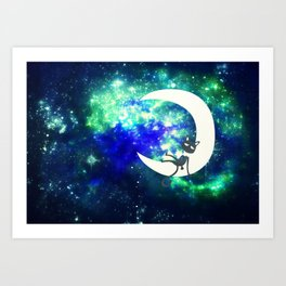 I Sat On the Moon Art Print