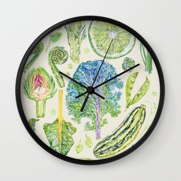 Harvest of Green - Neutral Wall Clock
