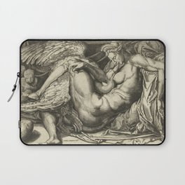 "Cornelis Bos ""Leda and the Swan"" after Michelangelo Buonarroti Laptop Sleeve"