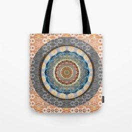 Elegance of Timeless Peace Boho Lace Depth Meditation Print Tote Bag