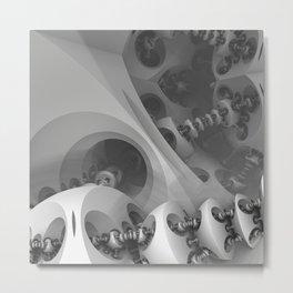 Futuristic 3D Sci-fi Fractal Metal Print
