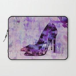 High heel female shoe watercolor art Laptop Sleeve