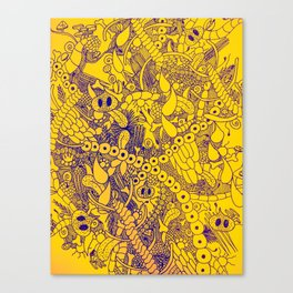Wild Things Yellow and Blue Canvas Print