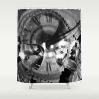 imagerybydianna Shower Curtains featuring Logos by Art by Mel
