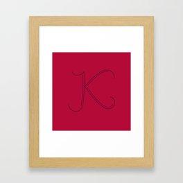 Letter K - 36 Days of Type Framed Art Print