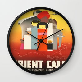 Vintage poster - Oriental Tourist Conference Wall Clock