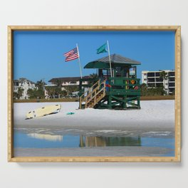 Welcome To Siesta Key Beach Serving Tray