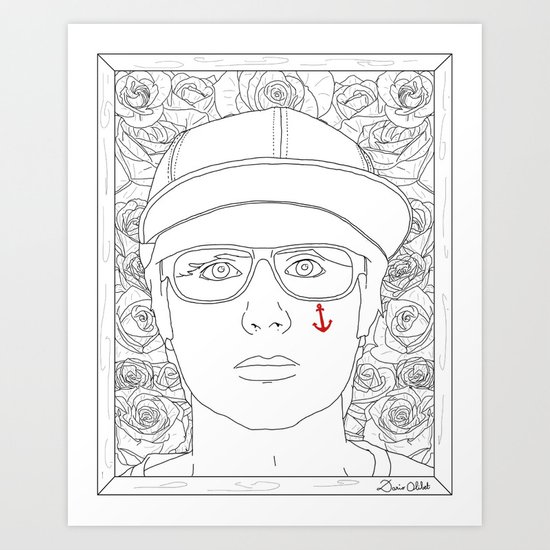 Autoportrait Art Print