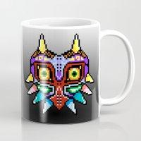 majoras mask Mugs featuring Majoras Mask /Pixel /zelda by tshirtsz