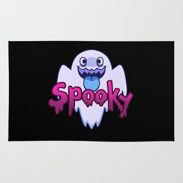 Spooky Ghost (Blue) Rug