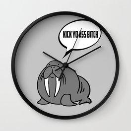 Angry Walrus Wall Clock
