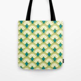 Fan Pattern Chartreuse Tote Bag