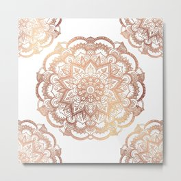 Mandala Rose-Gold Shine Metal Print