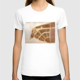 Vintage Map of New Amsterdam (1660) 2 T-shirt