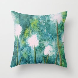 Abstract Dandelions WISH Throw Pillow