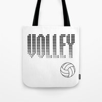 volleyball Tote Bags featuring Volleyball by raineon