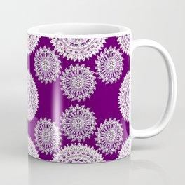 Deep Plum and Silver Patterned Mandalas Coffee Mug