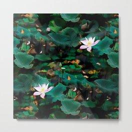 Lotus - A Pattern Metal Print