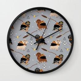 dachshund witch wizard magic wiener dog gifts Wall Clock