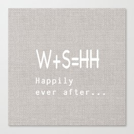Happily Ever after pillow Canvas Print