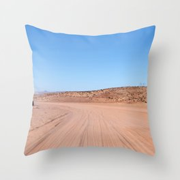 Four-Wheel-Driving Through the Pinks and Blues of Antelope Canyon 02 Throw Pillow