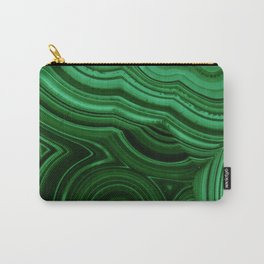 GREEN MALACHITE STONE PATTERN Carry-All Pouch