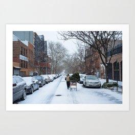 Christmas, Brooklyn Style Art Print